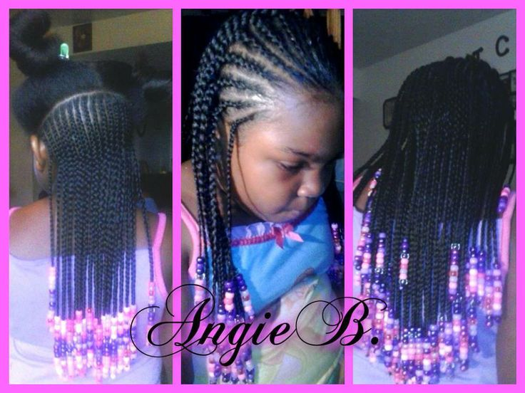 Simple Cornrows And Beads Hairstyles 4 Girls Pinterest