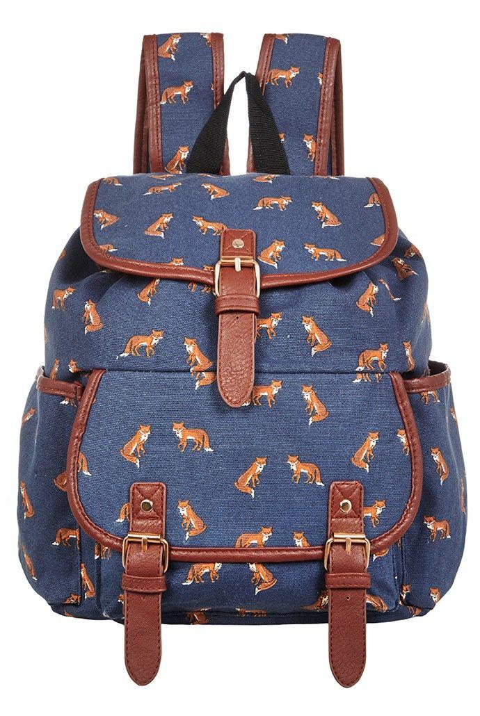 Louche Fox Print Backpack