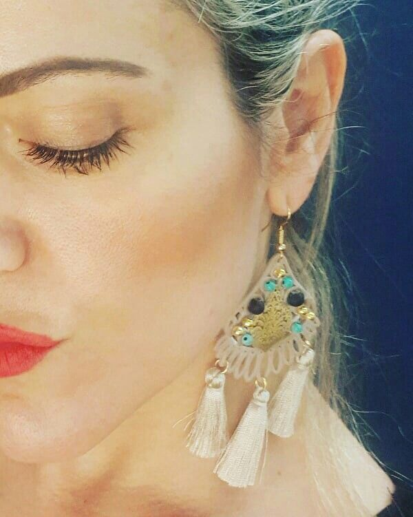 Earrings of the day.Bohochic hand made by luminata cuore ❤