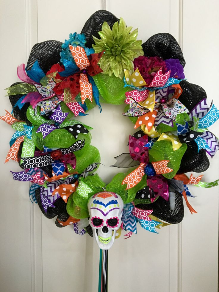 Day of the Dead - Sugar Skull Wreath by LuciaMorris on ...