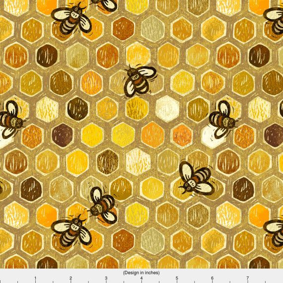 1 yard (or 1 fat quarter) of Honeycomb Hive by designer stitchyrichie. Printed on Organic Cotton Knit, Linen Cotton Canvas, Organic Cotton Sateen, Kona Cotton, Basic Cotton Ultra, Cotton Poplin, Minky, Fleece, or Satin fabric.  Available in yards and quarter yards (fat quarter). This fabric is digitally printed on demand as orders are placed. Unlike conventional textile manufacturing, very little waste of fabric, ink, water or electricity is used. We print using eco-friendly, water-based…