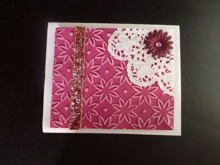#rose #card #flower #embosing