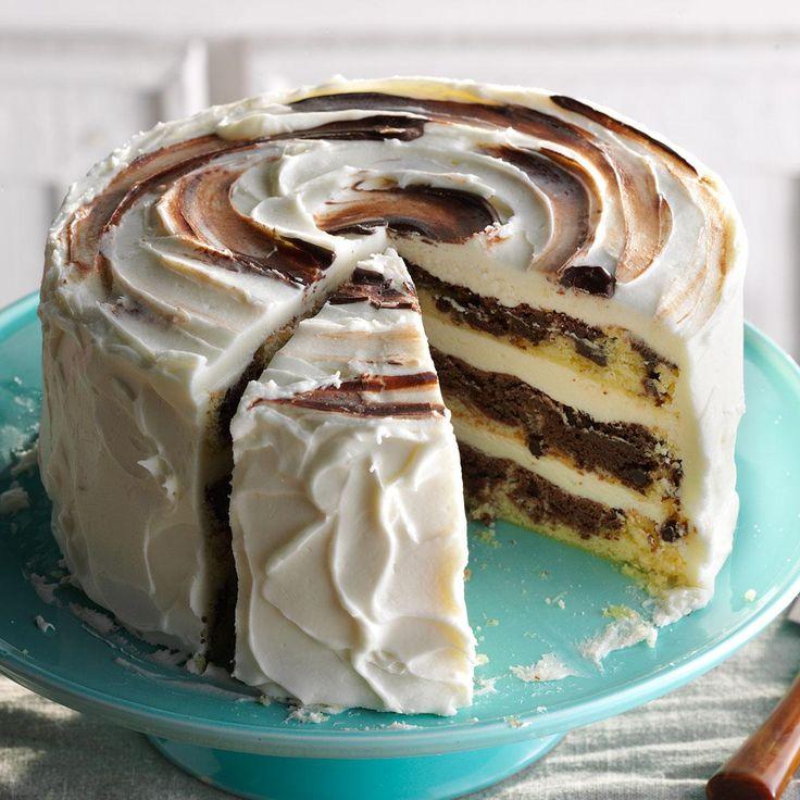 Marvelous Marble Cake Recipe -Pound cake and chocolate make the best marble cake. — Ellen Riley, Birmingham, Alabama