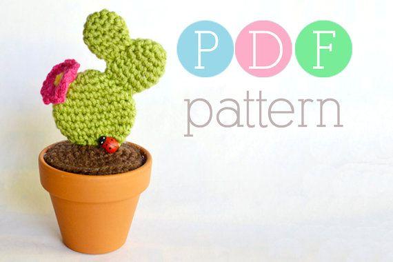 Amigurumi Cactus  Crochet Prickly Pear PDF by BubblegumBelles, $3.25