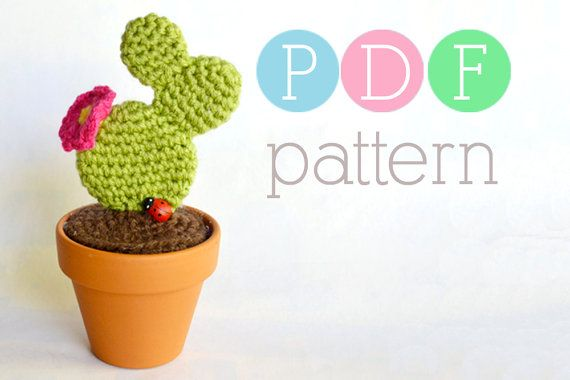 Amigurumi Cactus  Crochet Prickly Pear PDF by BubblegumBelles