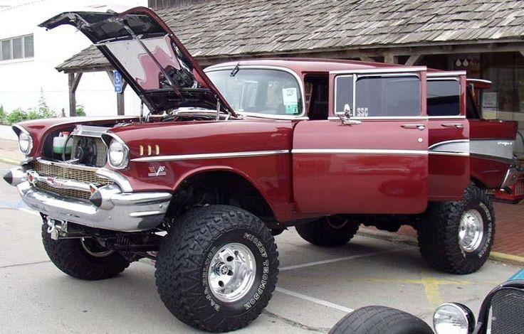 57 Chevy 4x4 wagon                                                                                                                                                                                 Mais