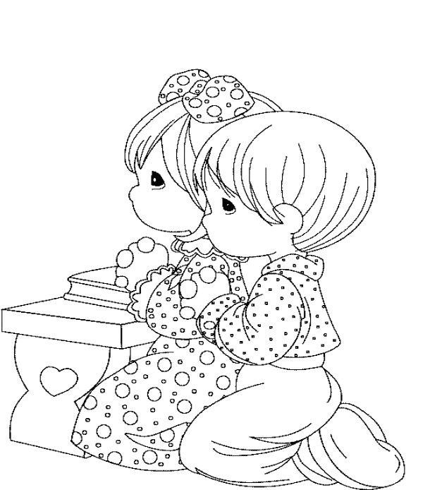 free printable coloring pages on prayer | children's lord's prayer printable | Go Back > Gallery For ...