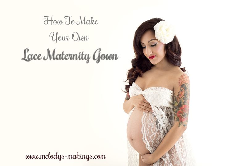 Make Your Own Lace Maternity Gown (A Photographer's Dream!)