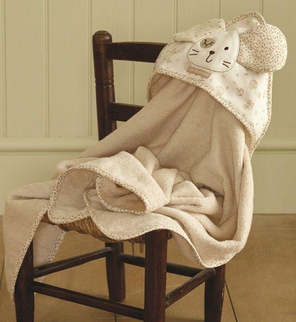NATURES PUREST Baby Cuddle Bath Robe Towel ORGANIC Baby Nursery Bathtime... Cute!
