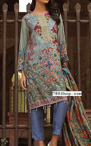 Lilac Twill Linen Suit | Buy Zara Ali Pakistani Dresses and Clothing online in USA, UK