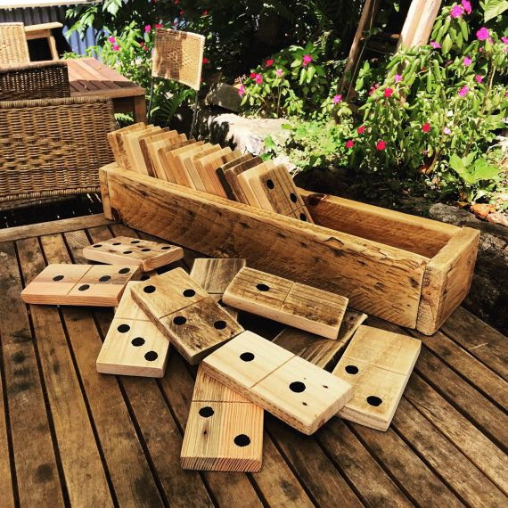 Popular Christmas and wedding present!! Giant Pallet Dominoes. Comes in a recycled coffee bean or potato sack as an added throw in, so please note, the sacks are recycled and come as they come. We dont have the ability to tell the coffee and potato companies that we want the sacks we are going to recycle to be a certain size to suit the dominoes, so dont expect them to be made the perfect domino set size. (Yes, weve had a customer expect their recycled sack to be perfectly sized just for…