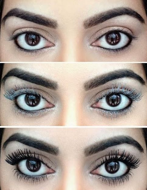 Coating your eyelashes in baby powder makes them appear fuller and more volumized!