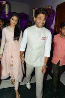 Allu Arjun, Sneha Stills at Rajendra Prasad Son Wedding Reception, Stylish Star Allu Arjun with his wife Sneha at Dr.Rajendra Prasad's son