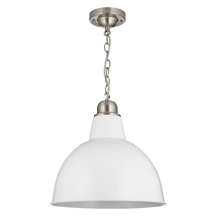 Buy John Lewis Croft Collection Aiden Factory Ceiling Light, White Online at johnlewis.com