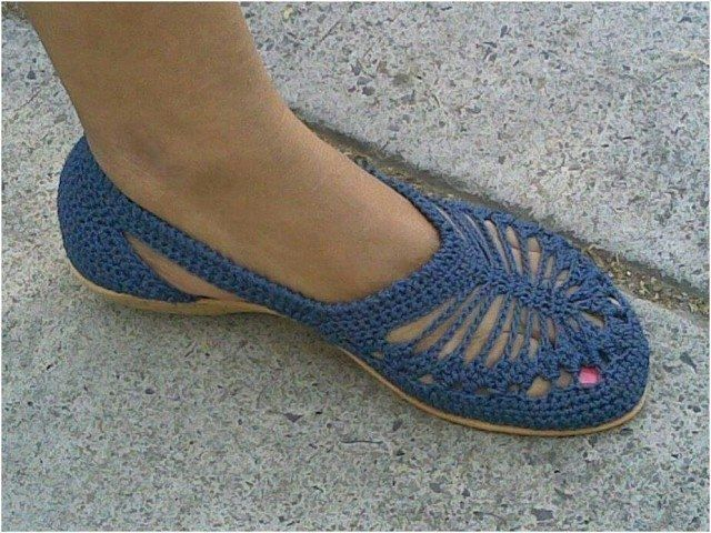 Летняя обувь крючком