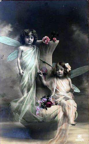 Vintage Postcard ~ Fairy Girls by chicks57, via Flickr