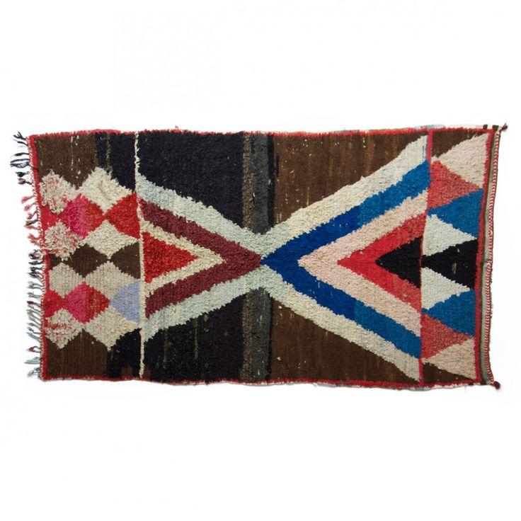 Boucherouite rug, no.540 {220 x 130 cm } 4.500DKK