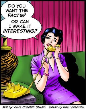 """Comic Girls Say.. """"Do you want facts? or can I make it interesting? """" #comic #popart"""