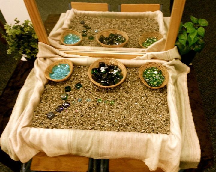put a mirror next to the sensory table a wonderful sensory learning area from rangeview preschool shared by early life foundations