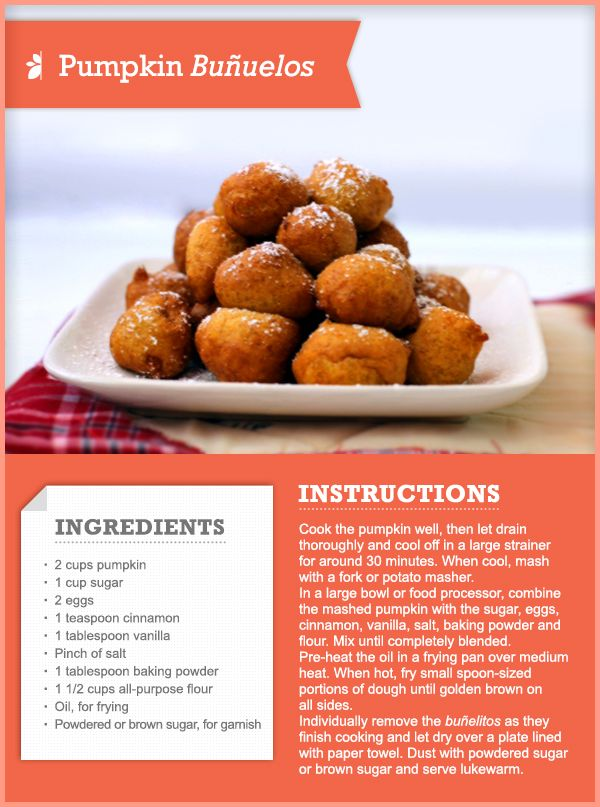 77 best recipe cards tips images on pinterest recipe cards how to make pumpkin buuelos howto recipe thanksgiving forumfinder Choice Image