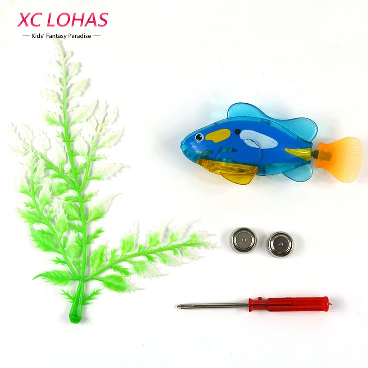 1pc Funny Fish Baby Bath Toys Battery  Electronic Fish Toys With Screwdriver Kids Toys Christmas Gifts For Children