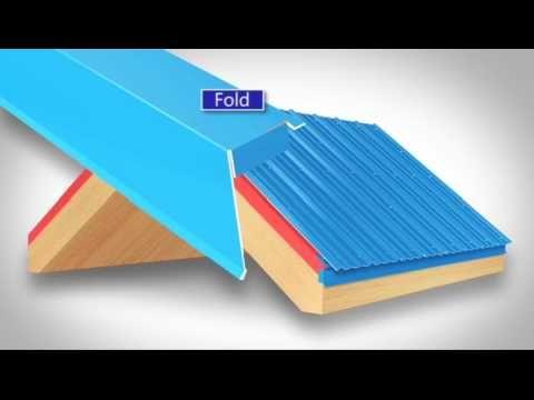 How to install metal roof rake trim for Union's MasterRib panel. - YouTube