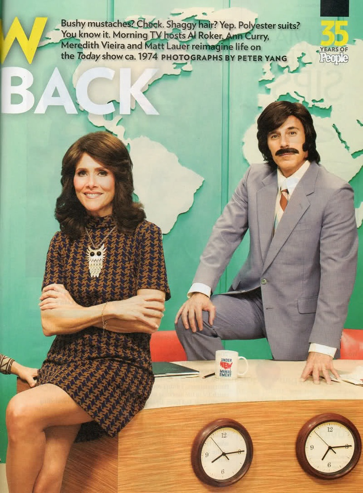 Oh No They Didnt! - Today Show Anchors imagine themselves in the 70s; Lauer and Roker give mustache rides.