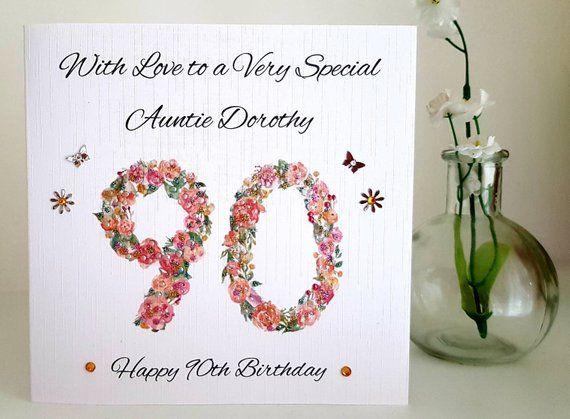 Birthday Card For Mum Sister Aunt Nan Friend Grandma Wife 50th Etsy Birthday Cards Birthday Cards For Mum Handmade Card Making