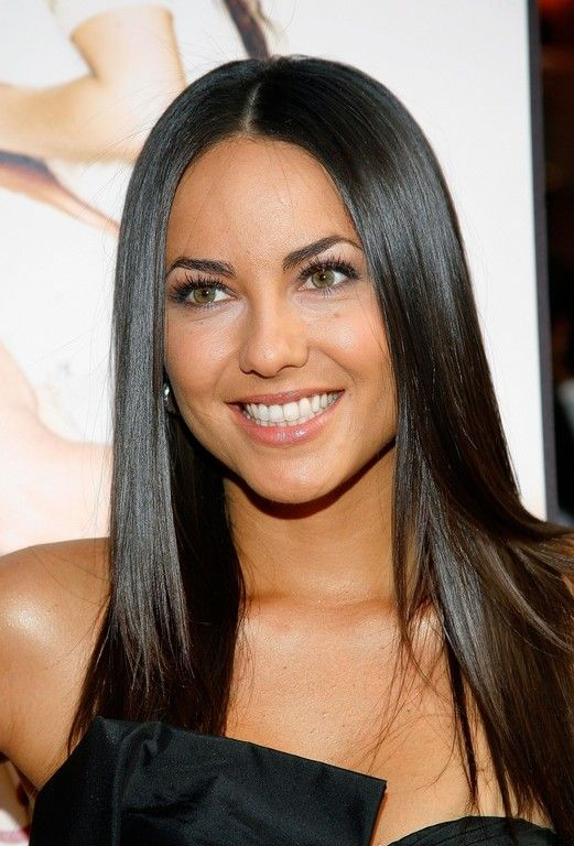 Sleek Long Black Hair Style  - Barbara Mori hairstyle