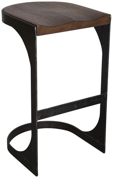 This would look fabulous from the back, pulled up under a counter.  The Baxter Stool from Greige Design.