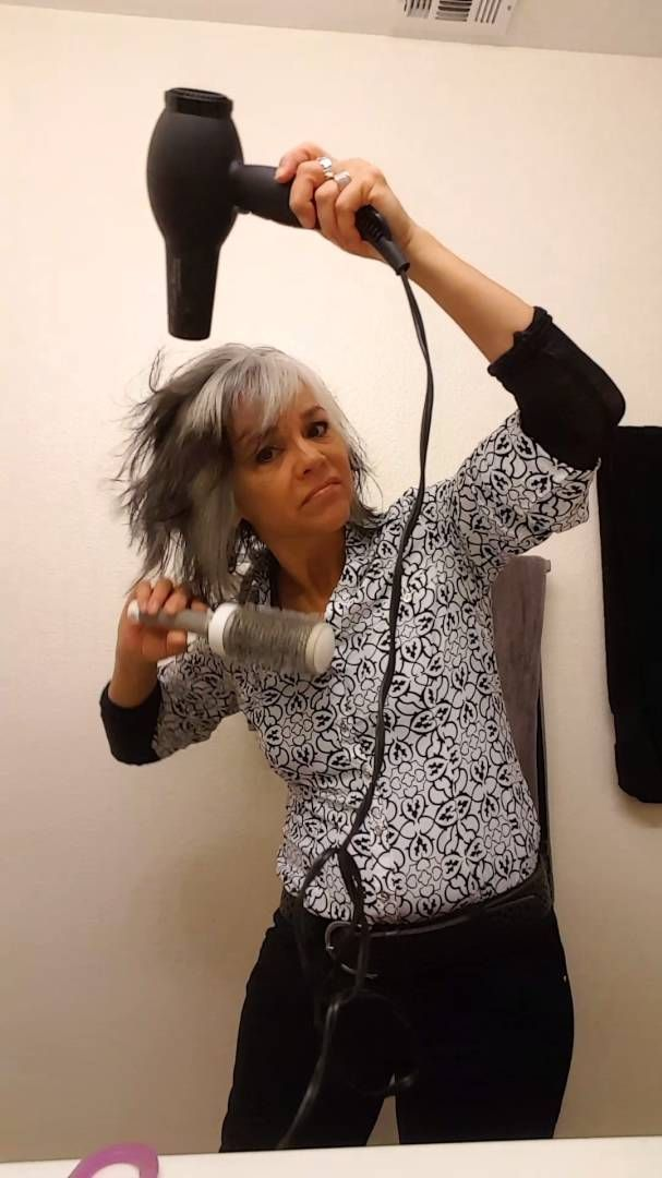 Going Gray Naturally 10 Grey Hair With Bangs Short