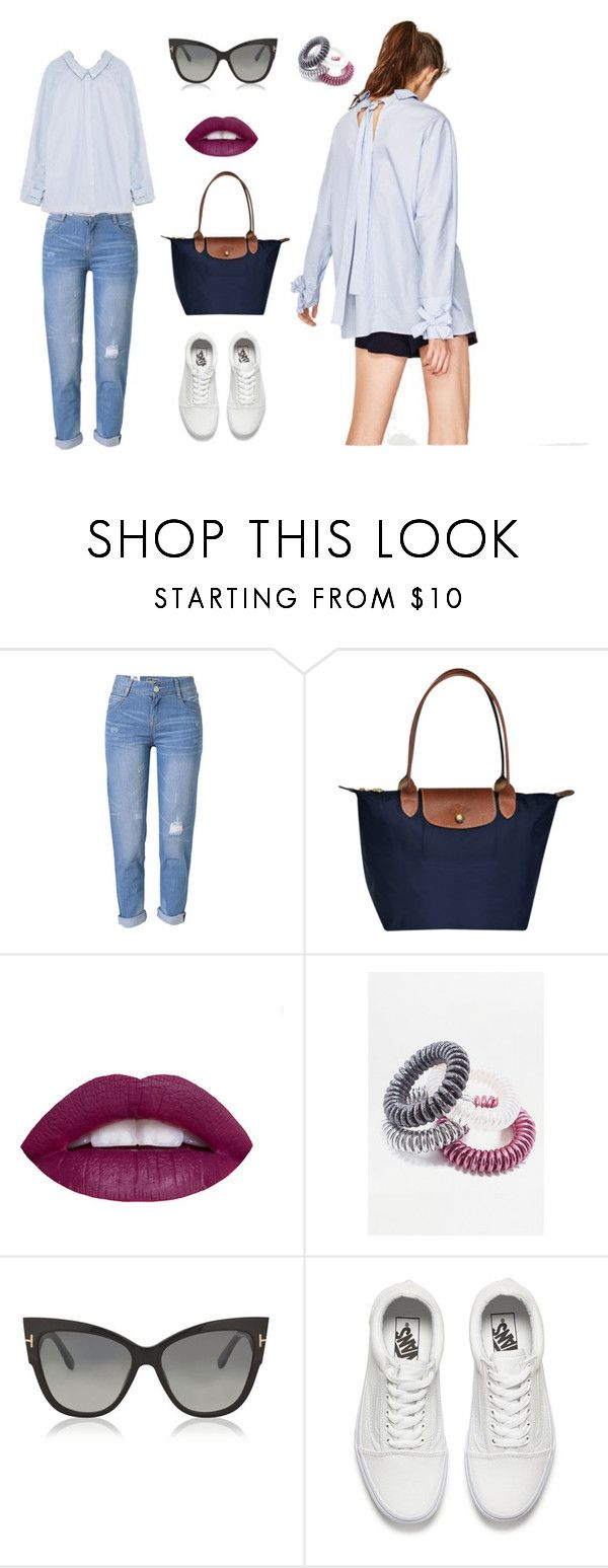 """""""Every day outfit"""" by evgeniia-lisianskaia on Polyvore featuring WithChic, L.A. Girl, Tom Ford and Vans"""