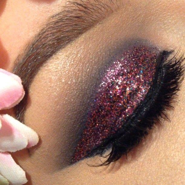 Glitter makeup @ makeupbymia