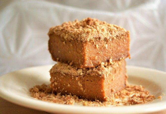 Cukormentes sütőtökös süti