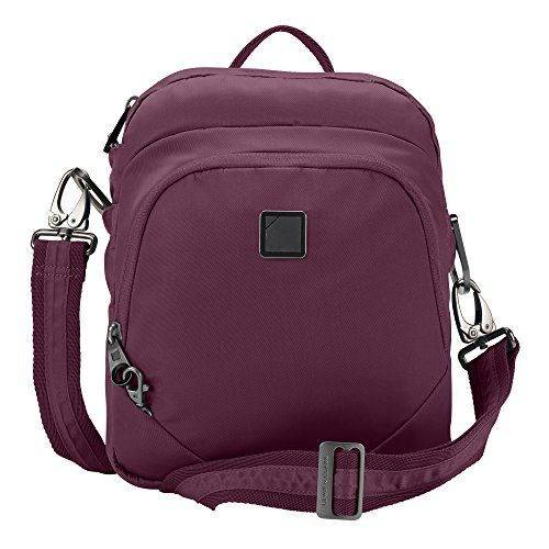 Lewis N. Clark Secura Anti-theft Convertipack Sling Backpack, Plum