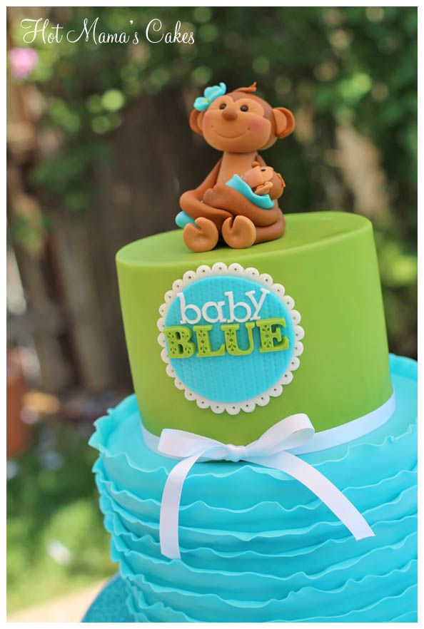 Mama Monkey Baby Shower Cake