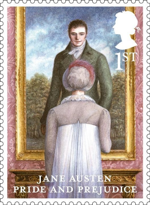 Jane Austen stamps 2013 ~ Pride and Prejudice (although that Mr. Darcy, not so hot)