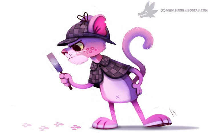 Daily Paint #1042. Pink Panther by Cryptid-Creations.deviantart.com on @DeviantArt