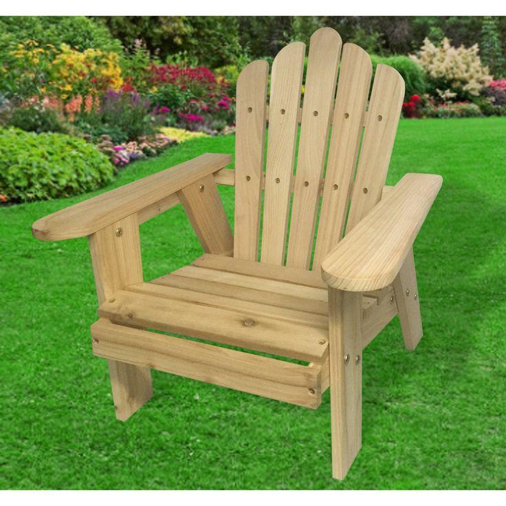 Outdoor Lohasrus Kids Deluxe Red Cedar Kids Adirondack Chair - MM20802