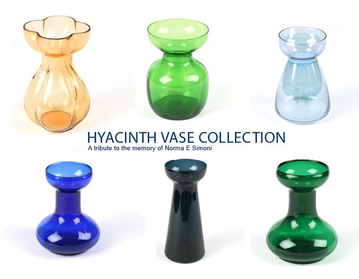 Hyacinth Vase Collection Some History