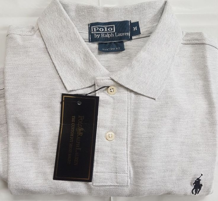 Mens Ralph Lauren Light Grey Polo Tshirt, Brand New with Tags