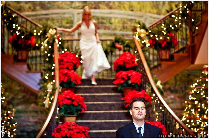 christmas poinsettia wedding   wedding cake and carolers from Alana and Paul's Christmas wedding ...