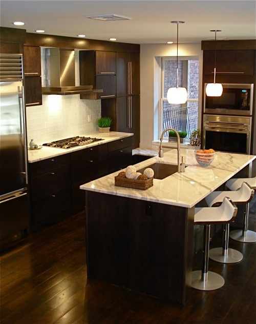 dark+floors,+dark+cabinets - Click image to find more Home Decor Pinterest pins