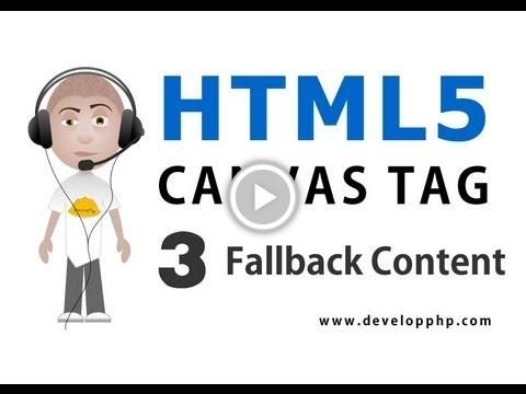 HTML5 Canvas Fallback Content Tutorial Show Alternate Content No Browser Support