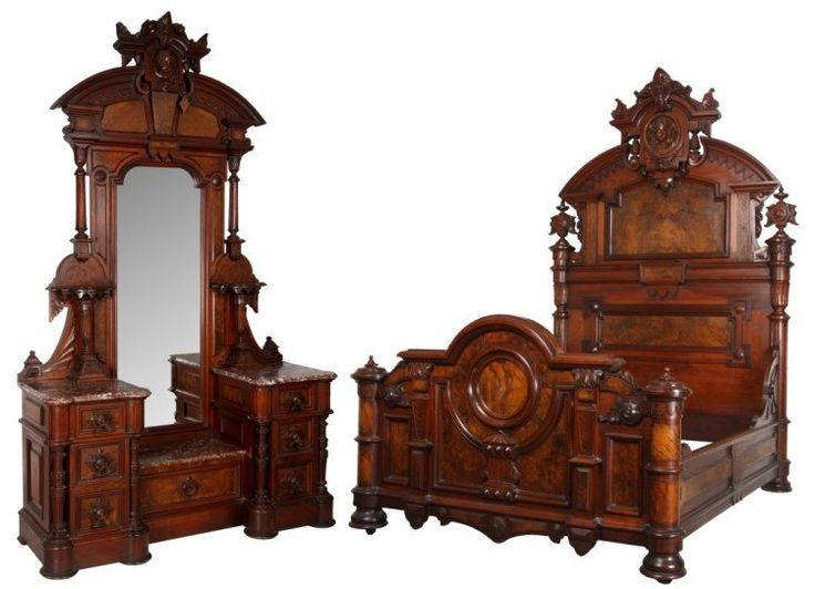 c1870 renaissance bedroom suite, two pc, attr-T Brooks, Brooklyn, NY - 24 Best Furniture - Thomas Brooks Images On Pinterest Brooklyn