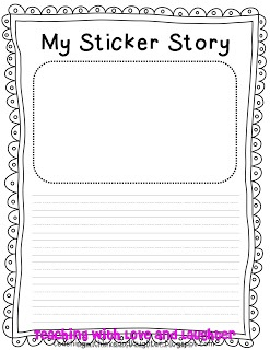 Sticker story - Work on Writing