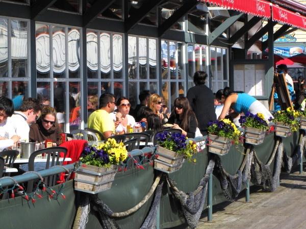 Outdoor restaurant at Fisherman's Wharf in Steveston, Richmond BC by RayVanEng, via Flickr