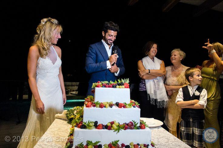 Wedding Cake | Mykonos Wedding @ Santa Marina by Stella and Moscha - Exclusive Greek Island Weddings | Photo Petros Sordinas