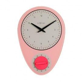Reloj de pared retro Hans pink- A19 x H27.5