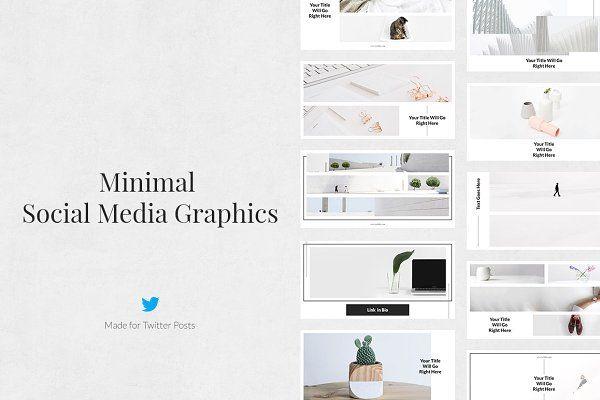 Twitter Templates Social Corner Graphics Minimal Twitter Posts